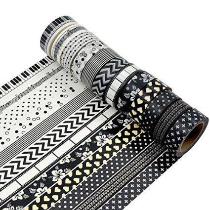 AUFODARA 5 rouleaux Ruban adhésif de décor Washi Tape - Taille par