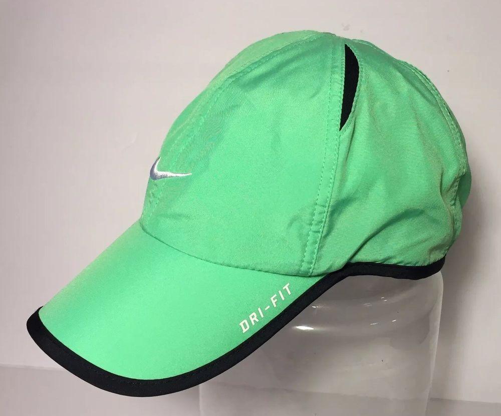 12255da9b3968d NWOT NIKE Dri-Fit FeatherLight Adult Running Tennis Hat Cap-OSFA LIGHT  GREEN #fashion #clothing #shoes #accessories #unisexclothingshoesaccs ...