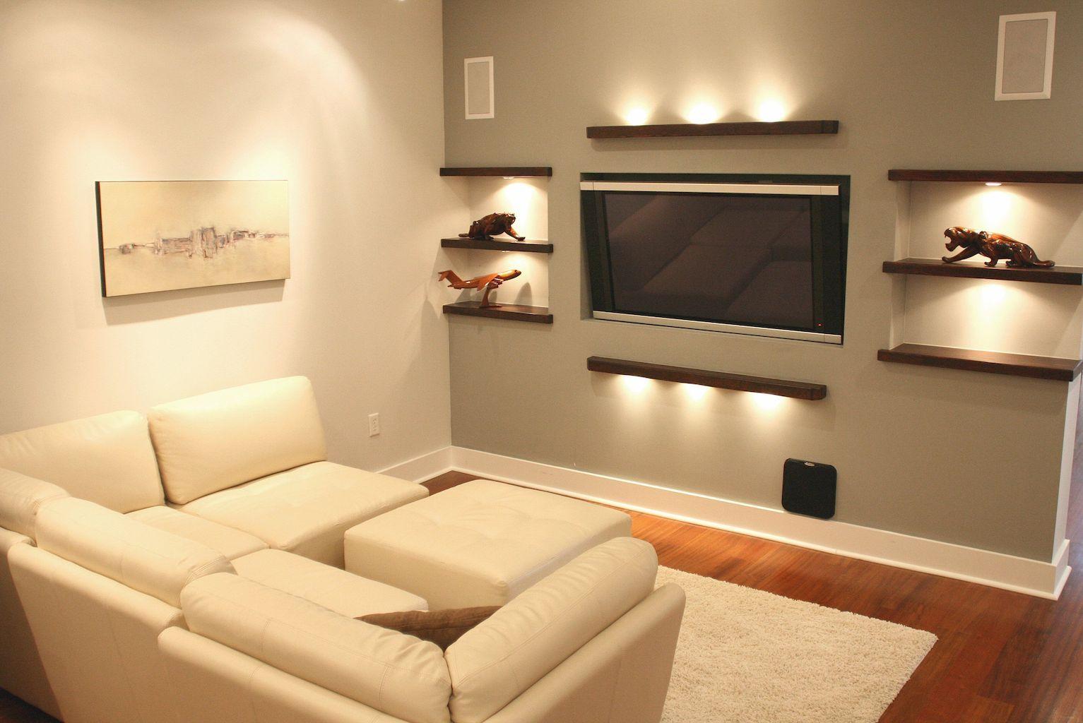 60 TV Wall Living Room Ideas Decor On A Budget | Tv walls, Living ...