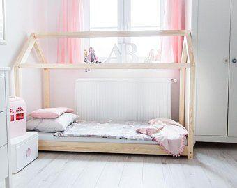Single bed for kids CUBE 3 Pine wood Betten für