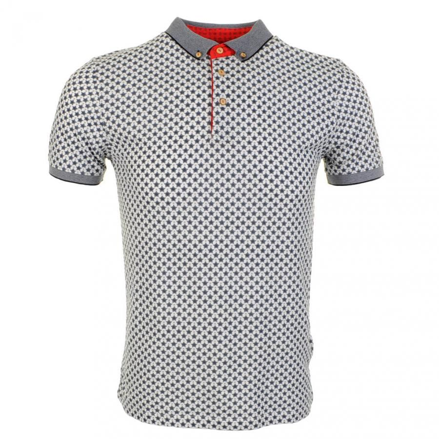 Ted Baker Ted Baker Bowstar Printed Star Polo T Shirt Navy Ted Baker