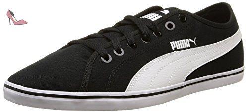 Puma Elsu V2 Cv, Baskets mode homme - Noir (Black/White),