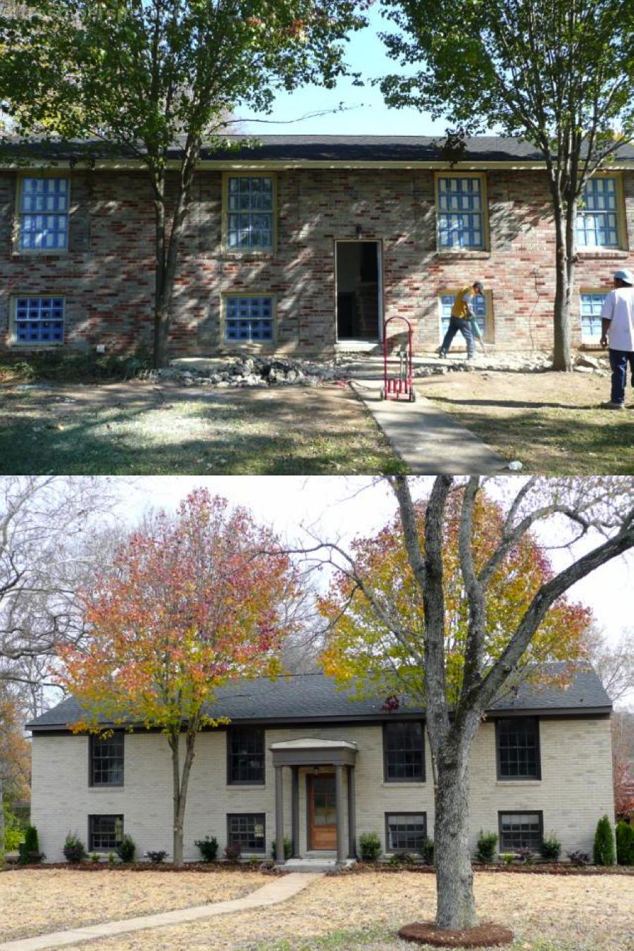 Split Foyer House Colors : An amazing split level transformation exterior
