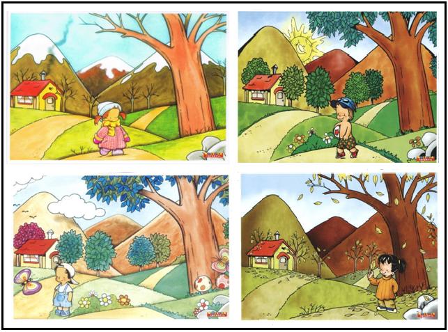 Las Temporadas Del Ano En Ingles Imagui Body Preschool Clip Art Drawings