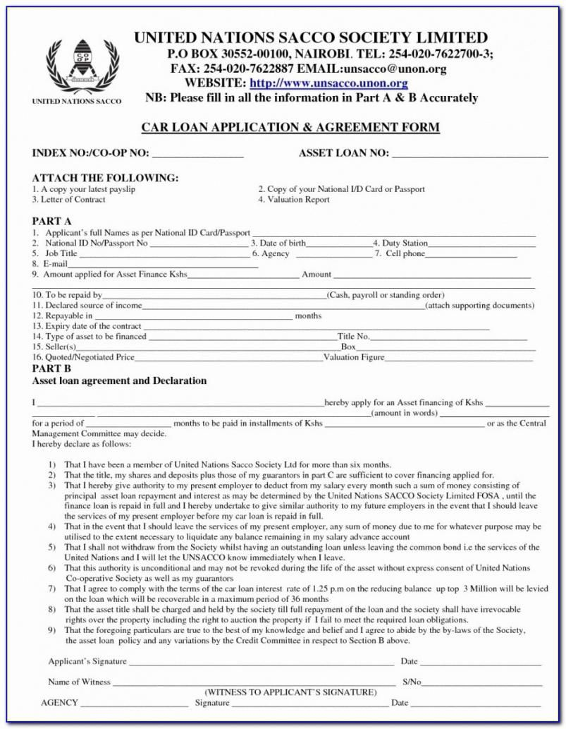 Pin On Contract Agreement Car loan agreement template pdf