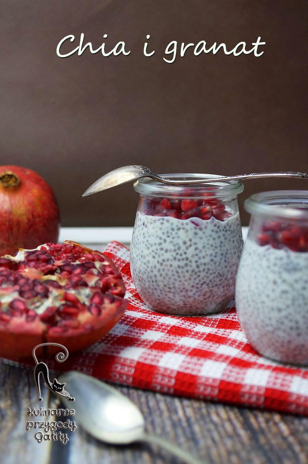 Zdrowe Sniadanie Pudding Chia Z Granatem W 2019 Zarelko Pudding