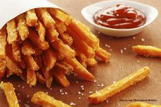 Knusperfeine Süßkartoffel-Pommes #potatowedgesselbermachen