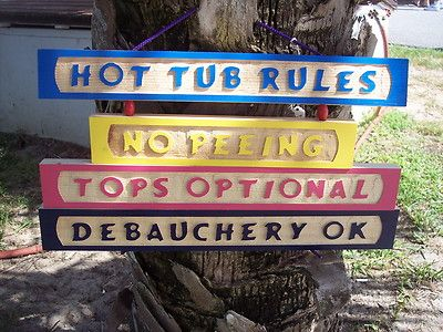 Hot Tub Rules Sign Swimming Pool Funny Ebay Pool Funny Hot Tub Pool Signs