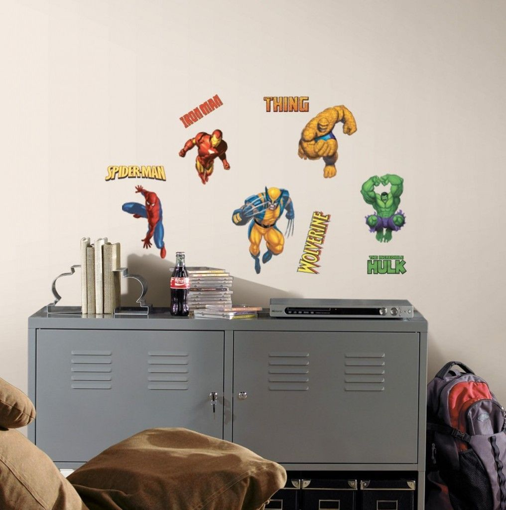 Cheap Superhero Wall Decals | party | Pinterest | Wall ...
