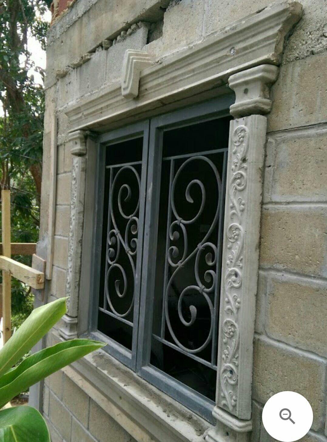 Zinc Metal Windows Wrought Iron Burglar Proofing Facade House Bay Window Window Design