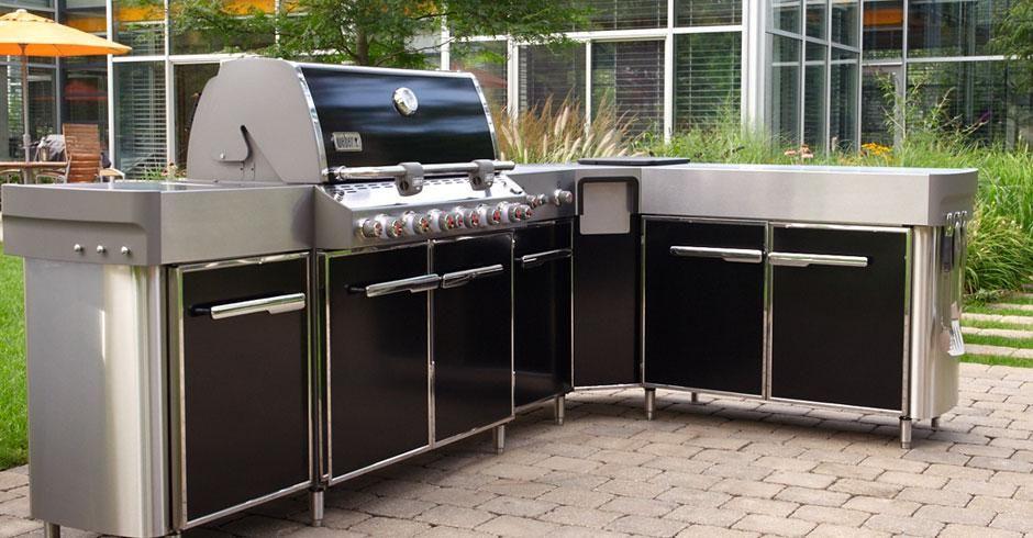 Weber Summit Outdoor Küche : Weber grill in outdoor küche integrieren offene küche wohnzimmer