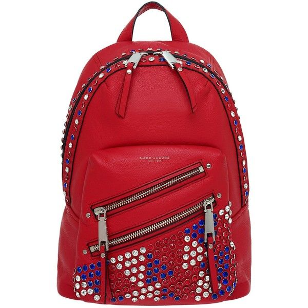 Marc Jacobs P.Y.T. Backpack ($795) ❤ liked on Polyvore featuring bags, backpacks, leather daypack, leather rucksack, strap backpack, leather studded backpack and marc jacobs