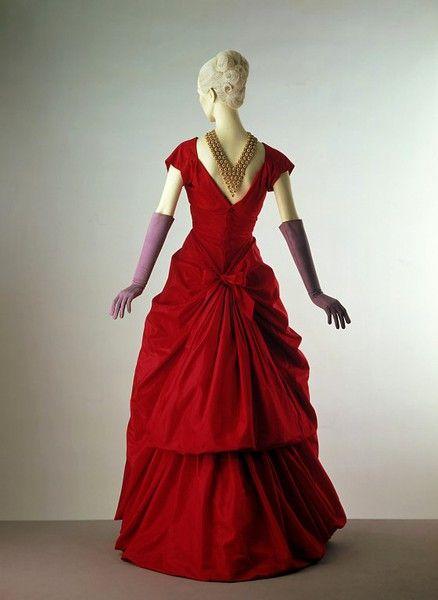 Cristobal Balenciaga Dress Ca 1953 1954 Via The Victoria