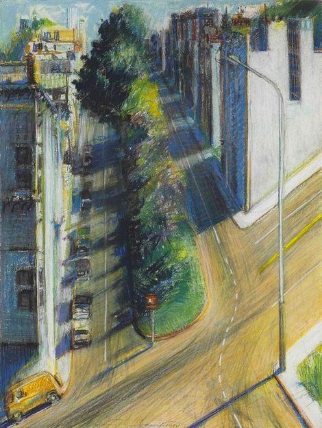 Wayne Thiebaud, Study for Carolina Street, 1984
