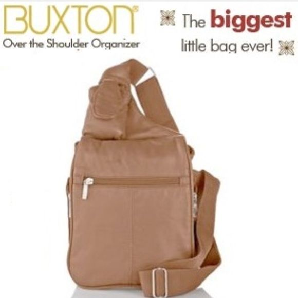 Buxton Gest Little Wonder Bag Hobo Organizer Tan Holds A Ton Of Stuff Travel Nwt Sealed Plastic Bags Crossbody