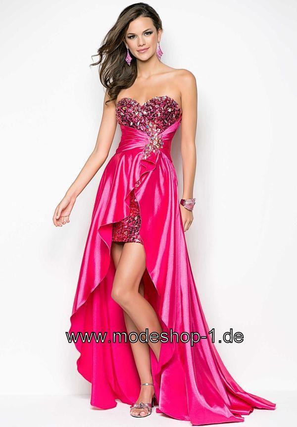 Trend Vokuhila Kleid Fuchsia von www.modeshop-1.de | vorne kurz ...