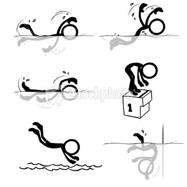 stickfigures swimming pinterest olympic swimming vector art rh pinterest com Girl Stick Figure Clip Art Human Stick Figure Clip Art