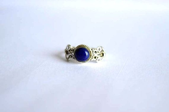 stone ring Lapis Lazuli ring Silver ring sterling by avicraft