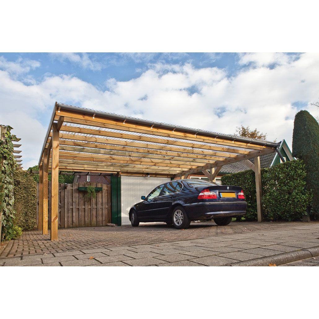 Tuin 20ft X 16ft 6m X 5m Carports Double Carport Shedsworld Carport Designs Double Carport Carport Plans