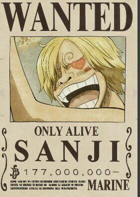 Wanted Sanji Only Alive One Piece Bounties One Piece Anime One Piece Figure