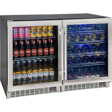 Matching Combination 300 Litre Dual Zone Beer And Wine Glass Door Bar Fridge Bar Fridges Wine Fridge Beer Fridge