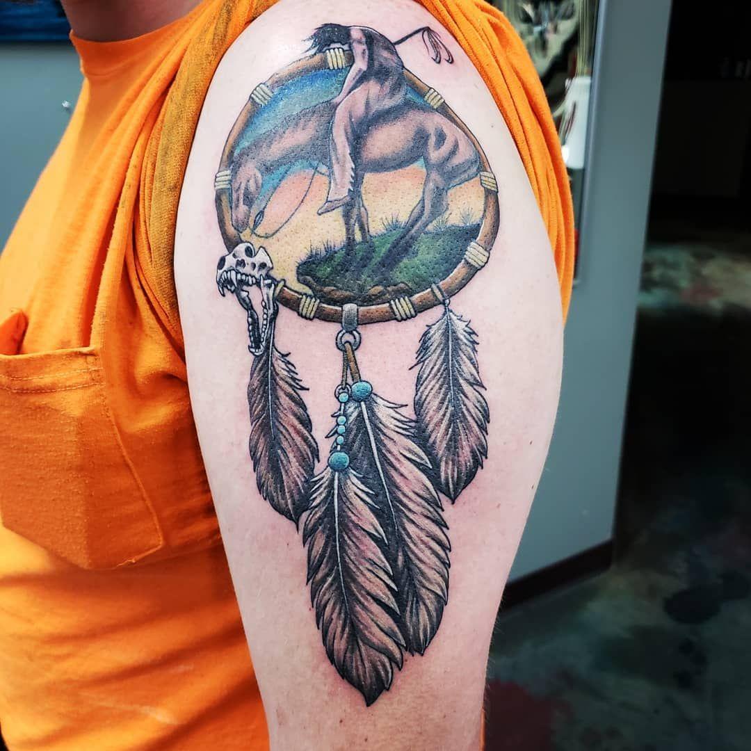 40 Native American Tattoo Designs that make you proud! |Native American Dreamcatcher Tattoo