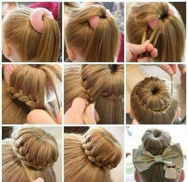 Braided Donut Bun Hair Bun Tutorial Girl Hairstyles Cute Bun Hairstyles