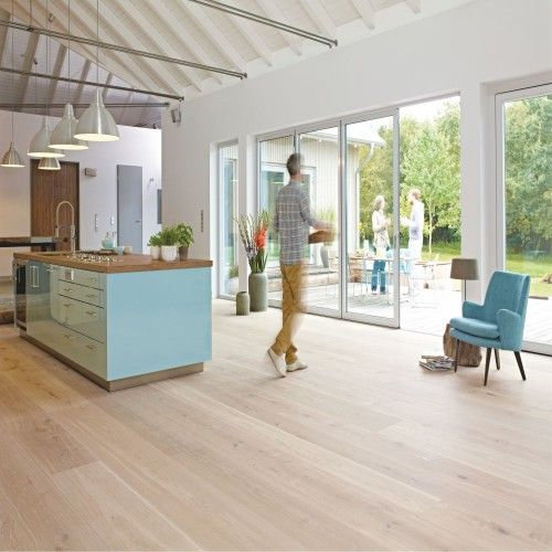 BOEN Oak Coral White Chaletino 1-Strip 300mm Natural Plus Oil - möbel rogg küchen