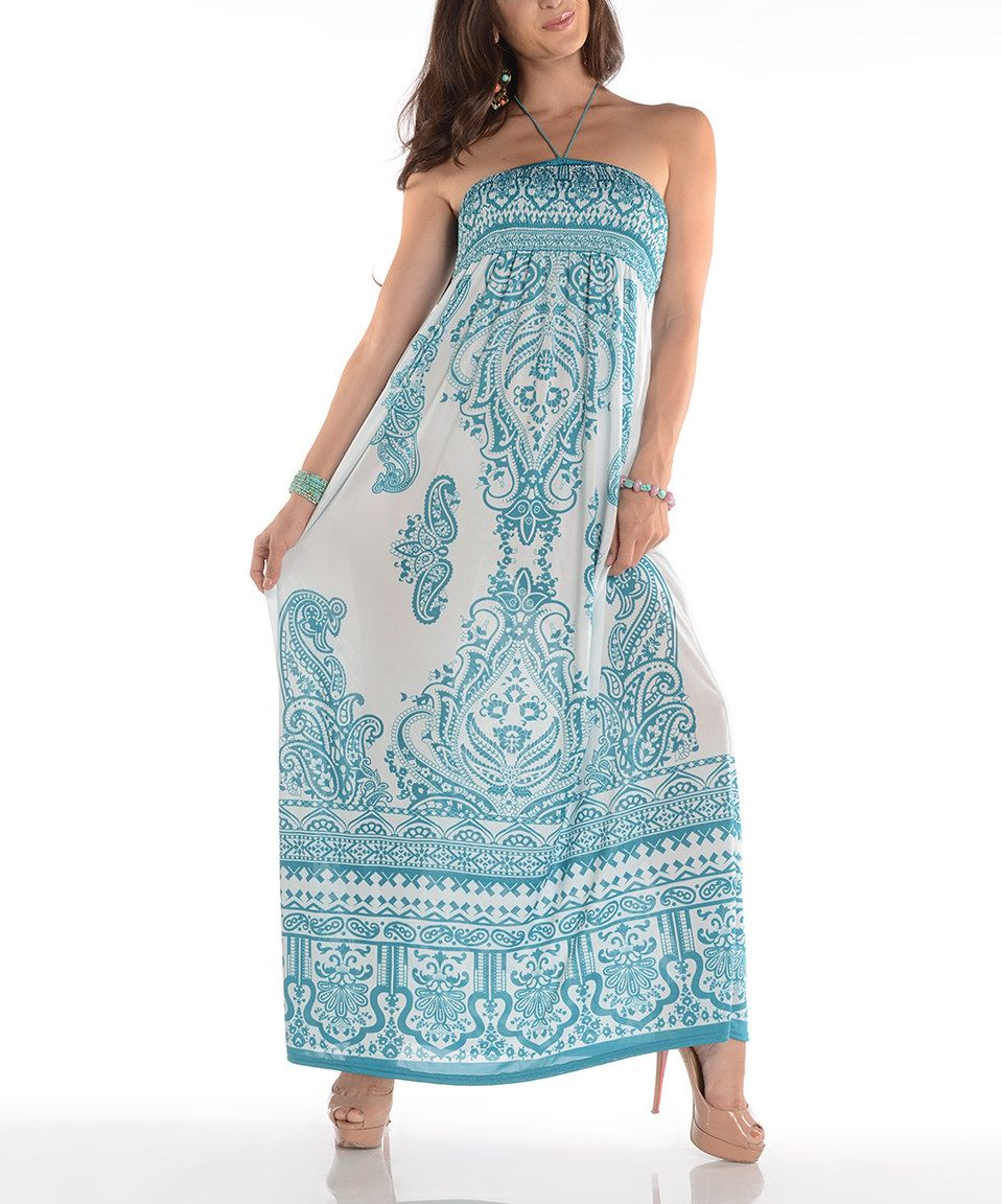 Another great find on zulily shoreline mint paisley halter maxi