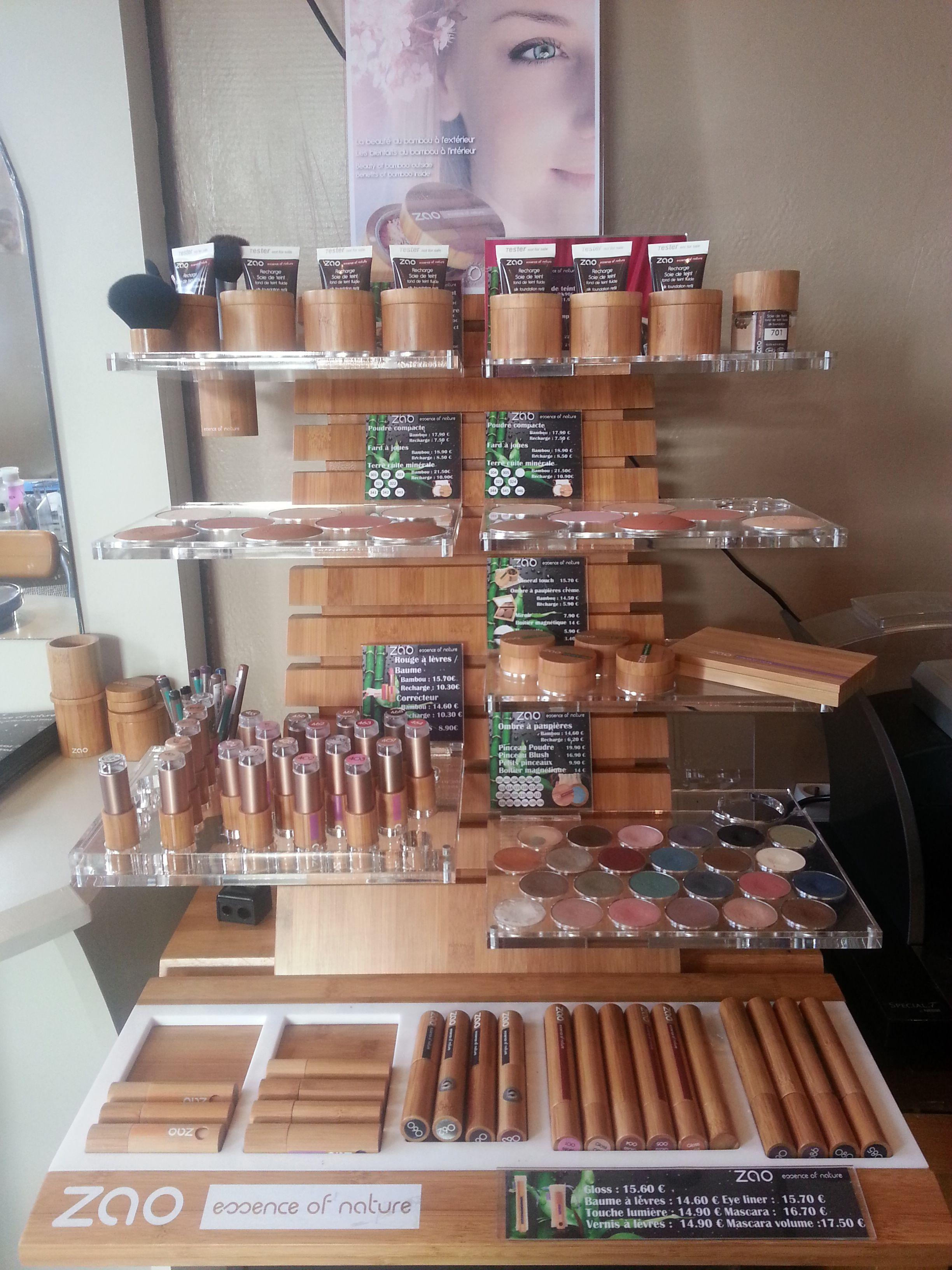 Présentoir Zao Make up, de quoi composé tous vos maquillages Bio · Maquillage  BioManucure