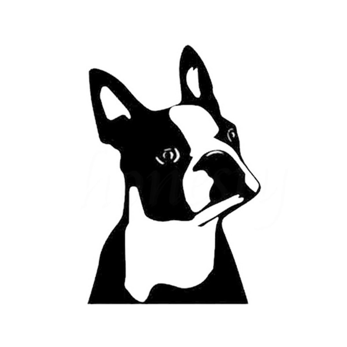 "I Love My Boston Terrier Dog 4/"" Car Truck Home Vinyl Sticker Decal Pet Gift USA"