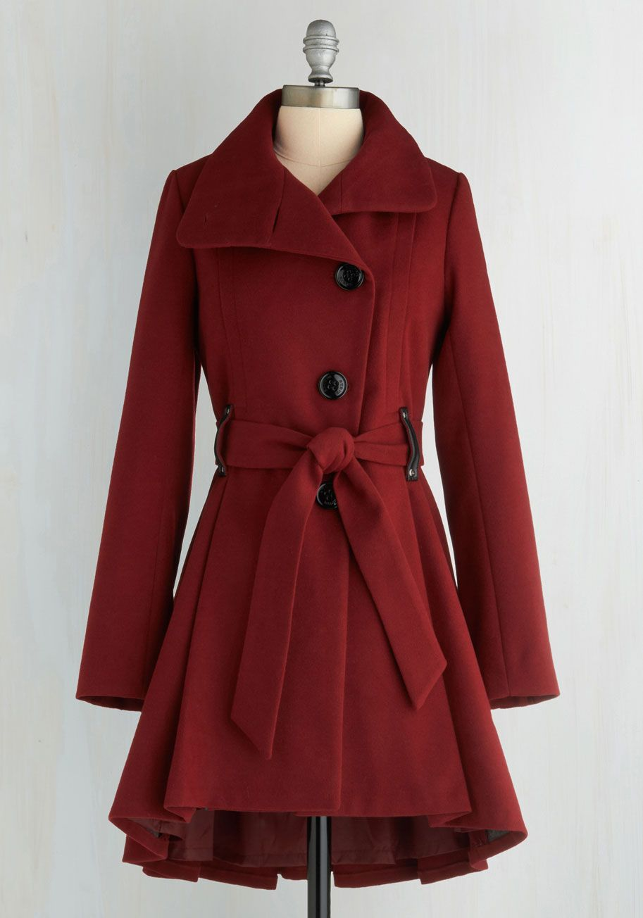 9c19b84af874a Winterberry Tart Coat in Burgundy. Walking up the path to your familys  country home
