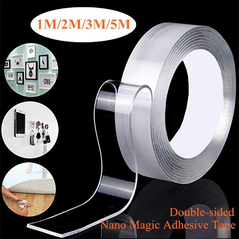 Washable Reusable Double-Sided Adhesive Quality Transparent Nano Glue Magic Tape