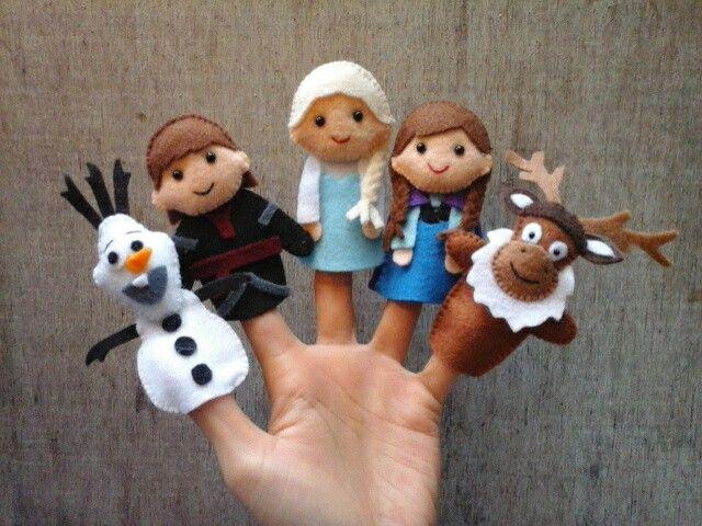 frozen finger puppet olav kristoff elsa anna sven. Black Bedroom Furniture Sets. Home Design Ideas
