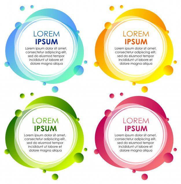 Four badges in different colors Free Vec  Premium Vector