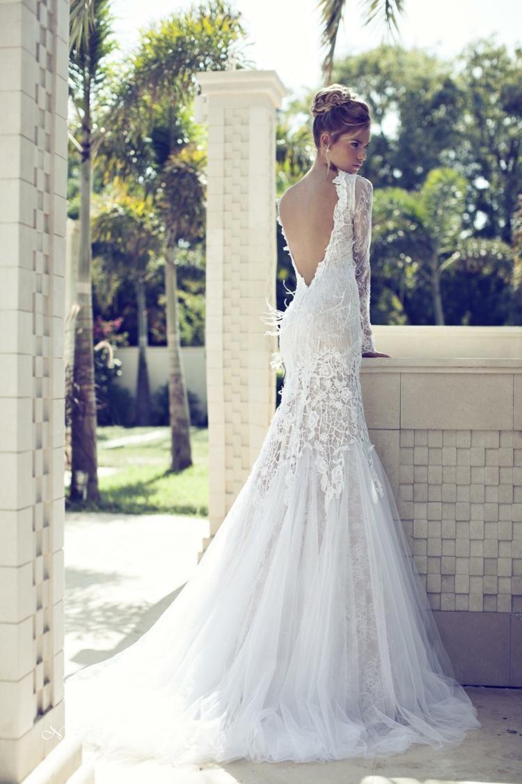 Robe de mariée dos nu, semi-nu et en dentelle – 70 designs  Design ...