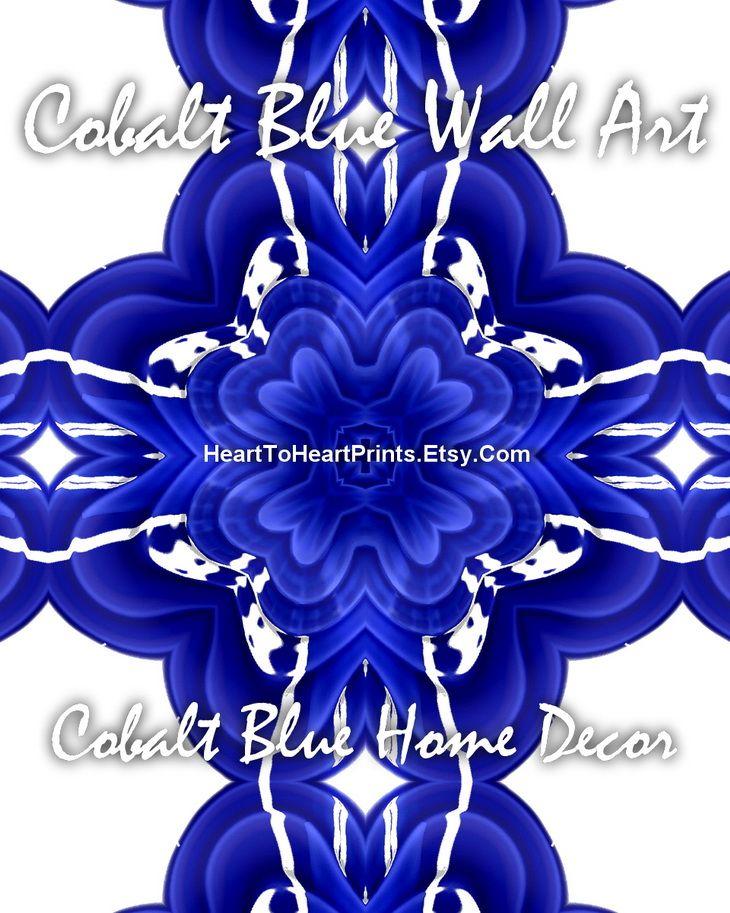 Cobalt blue wall art cobalt blue wall decor cobalt blue home decor cobalt