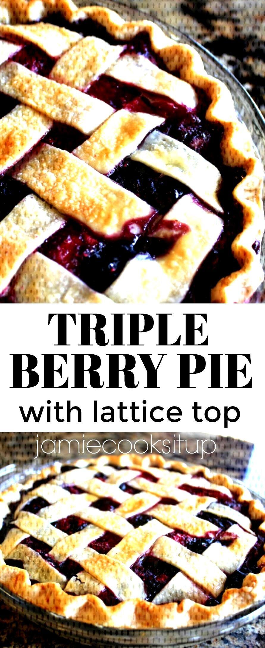 Triple Berry Pie with Lattice T...
