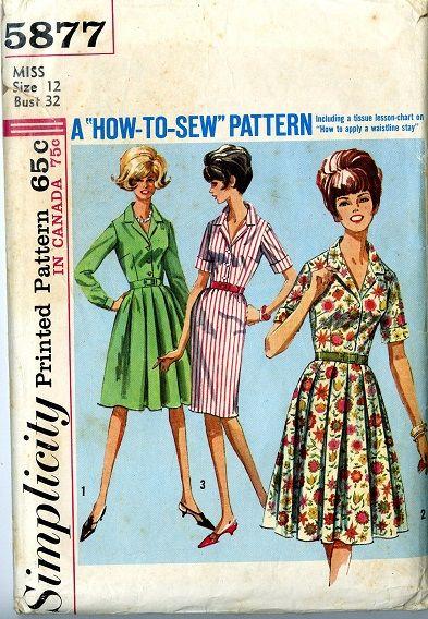 Vintage Simplicity Pattern 40 Shirtwaist Dress At Awesome Vintage Simplicity Patterns