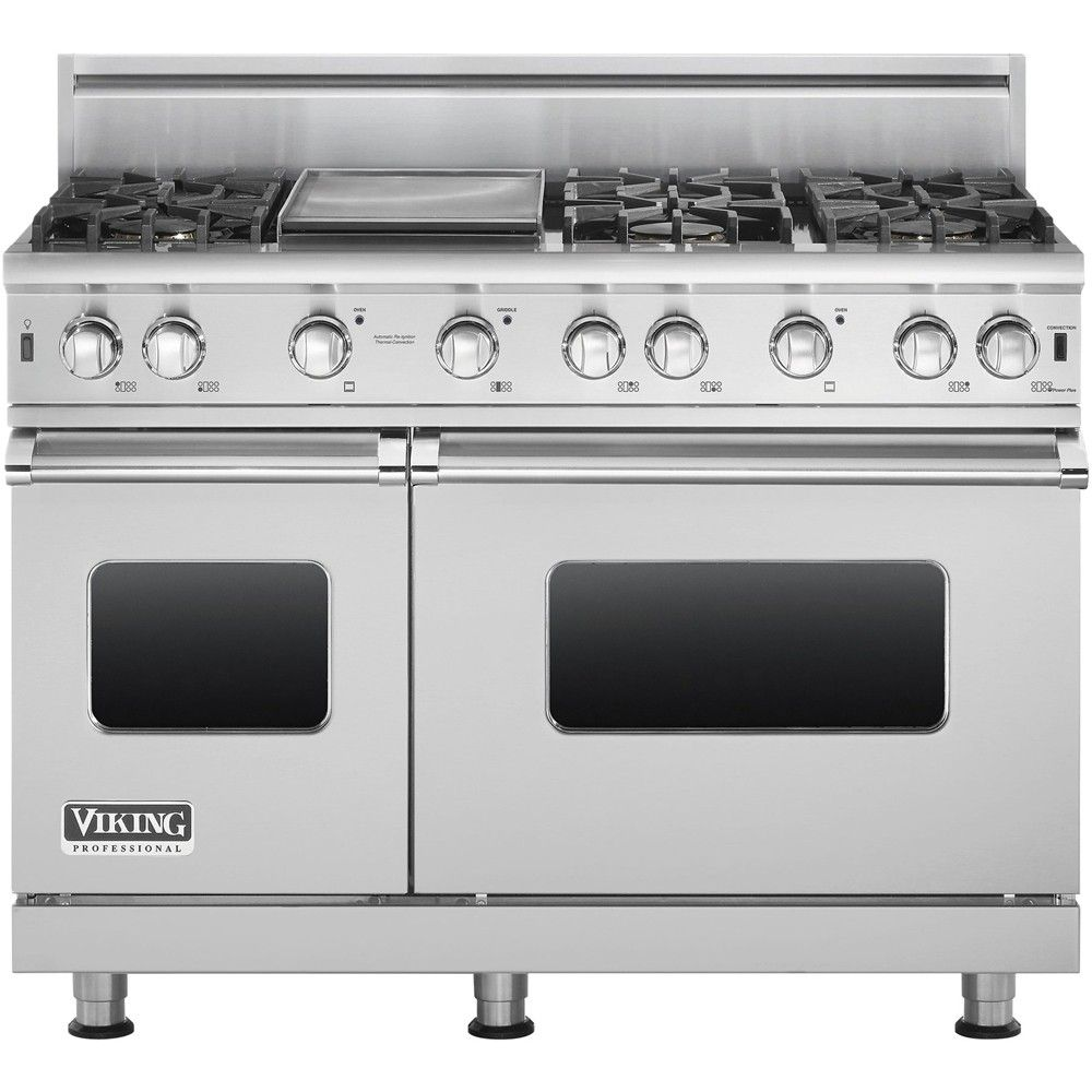 Wishlist Viking Freestanding Double Oven Gas Convection Range Stainless Steel Front Zoom Double Oven Kitchen Kitchen Appliances Viking Kitchen