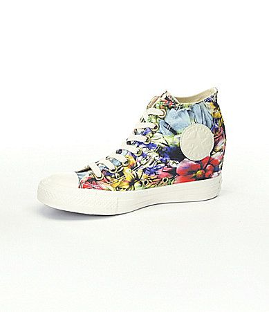 ab46a0bf4b8 Converse Womens Chuck Taylor All Star Lux Floral Wedge Sneakers  Dillards