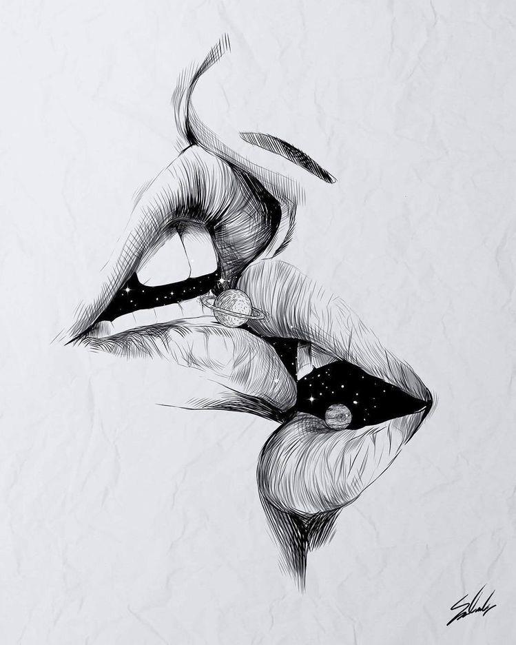 #küssen #zeichnung #zeichnen #kunst #universum