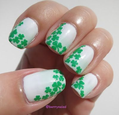 Clover Nails Nails Pinterest Art Nails