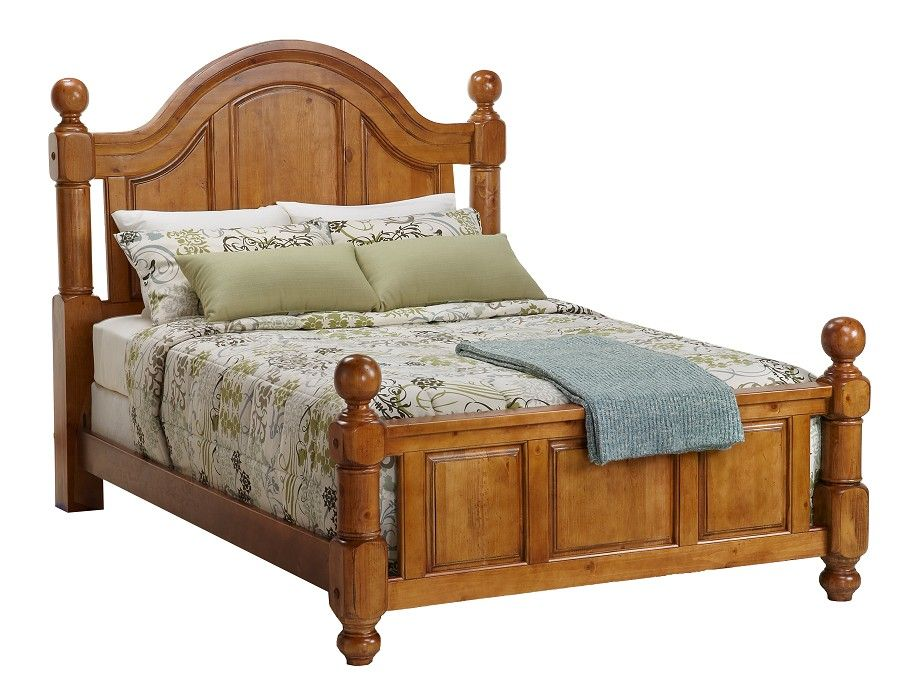 Thunder Bay Collection Queen Bed With Wood Rails At Home