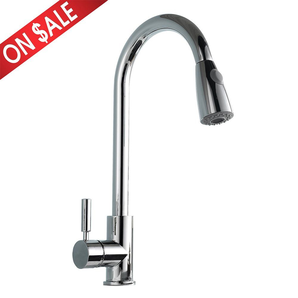 Comllen Best Modern Single Handle Pull Down Sprayer Kitchen Sink Faucet, Pull  Out Kitchen Faucets