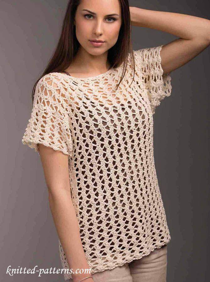 Free crochet pattern top | Free knitting patterns | Pinterest | Free ...