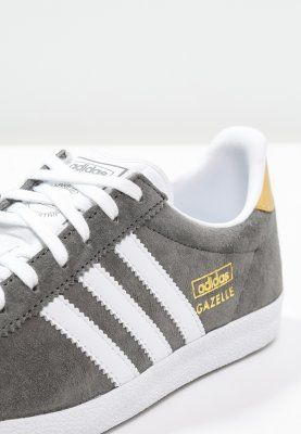 adidas Originals GAZELLE - Baskets basses - ash/white/gold metallic - ZALANDO.FR