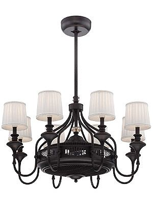 Brisa air ionizing fan dlier in english bronze chandelier ceiling