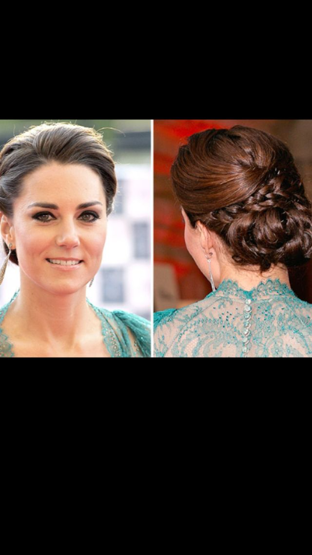 Updo Front And Back View Love This Hair Hair Pinterest
