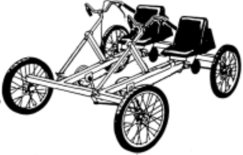 First additional product image for pedal car 1 or 2 for Irish mail cart plans
